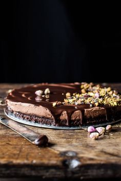 Chocolate Lovers Greek Yogurt Chocolate Mousse Cake