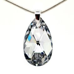 Amazon.com: Victoria's Secret Angles' Style Swarovski 22mm Crystal Sone Cubic Zirconia April's Birthstone Colour 22mm Crystal Oval Pear Drop...