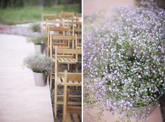 Rustic-chic décor for a Mediterranean country wedding Flower Decorations, Wedding Decorations, Rustic Chic Decor, Wedding Planner Book, Purple Baby, Baby's Breath, Ideas Para, Ladder Decor, Wedding Flowers