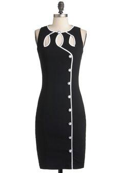 I love the unique cut outs. Swell-Heeled Dress, #ModCloth