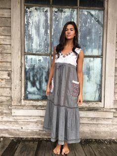Sasha dress-small medium-artsy-Eco Clothing-Upcycled by lovehigher