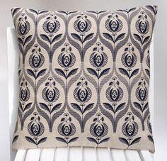 Art deco rose print cushion cover. $47.50, via Etsy.