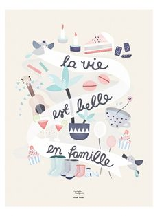 Life is beautiful with the family - We Are Family, Family First, Positiv Quotes, Jolie Phrase, Web Design, Mr Wonderful, French Quotes, Zine, Grafik Design