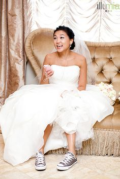 Maybe not something I would suggest for a bride unless it's part of her personality, but you gotta love the shoes!
