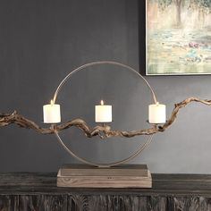 Instantly impress your guests by bringing the outdoors in to your coastal entry or living room with this oh-so-chic large Mendocino Driftwood Candle Holder. Instantly impress your guests by bringing the outdoors in to your coastal entry or Driftwood Candle Holders, Pillar Candle Holders, Candle Sconces, Pillar Candles, Candleholders, Candlesticks, Deco France, Iron Ring, Industrial Light Fixtures