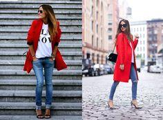 Einen #Trenchcoat in weiß, schwarz oder rot? Welchen magst du am liebsten? Unsere Tipps dazu findest du hier: https://www.stylishcircle.de/blog/trenchcoat-schwarz-weiss-oder-rot