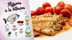Mojarra o dorada a la bilbaína - Receta de Karlos Arguiñano en Cocina Abierta - Hogarmania Salsa, Chicken Wings, Meat, Food, Seafood, Recipes, El Dorado, Open Kitchens, Essen