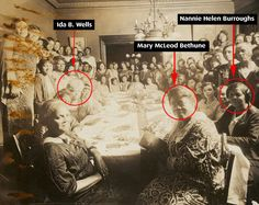 Warriors -  Mary McLeod Bethune, Ida B. Wells, Nannie Helen Burroughs and others at a Baptist Women's gathering, in Chicago.