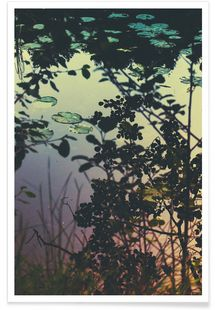 The Afternoon Lake - Pale Grain - Premium Poster