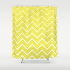 Buy Lemon Yellow Zigzag Shower Curtain by designmindsboutique. Worldwide shipping available at Society6.com. Just one of millions of high quality products available. Chevron pattern