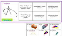 Lotto thema school (omschrijvingen) om met anderstalige nieuwkomers en leerlingen Nederlands te oefenen.