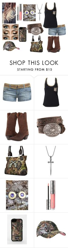"""Untitled #700"" by taylor-loomis ❤ liked on Polyvore featuring Wet Seal, Realtree, Dan Post, Nialaya, Bullet, By Terry and OtterBox"