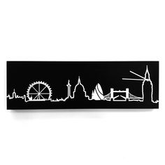 London Skyline Black clock now featured on Fab. England Party, London Clock, Black Clocks, London Tattoo, Clock Parts, London Skyline, London Life, World Of Color, Black Tattoos