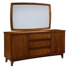 Broyhill Furniture Mardella Door Dresser + Landscape Dresser Mirror - 4277-232+4277-237