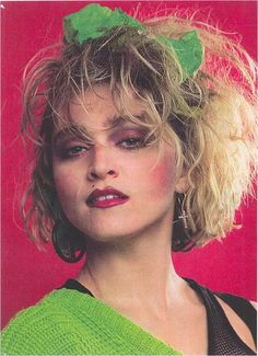 80s Makeup Looks, Look 80s, 80s Party Outfits, 80s Party Costumes, 1980s Costume, 80s Hair Bands, 80s Prom, 80s Dress, Madonna 80s
