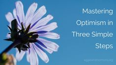 Mastering Optimism in Three Easy Steps | Aggieland Mormons
