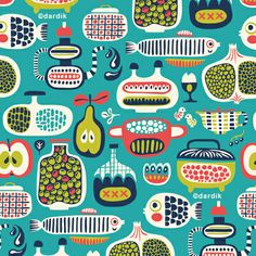 Helen Dardik : Great use of colours (click through for more patterns)