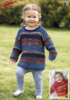 Lovely baby sweater and cardigan.