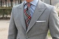 Wool flannel, covered buttons.