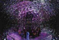 The stunning Crystal Dome. Located at Swarovski Crystal Worlds, a crystal-themed indoor theme park in Austria.