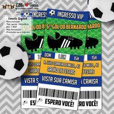 Convite Ingresso Festa Futebol Digital
