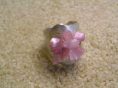 Silver ring with gem stones by StoneSeeds on Etsy