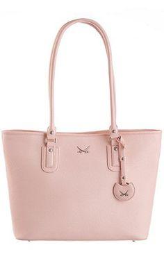 #shopper #pastel #spring #rosa #sansibar #shoppingbag #sheego #pastelpassion Sansibar Shopper mit Logoanhänger - rosa - SANSIBAR