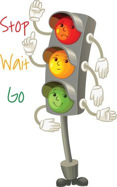 stop-wait-go-traffic lights - Road Safety Poster, Safety Posters, Safety Rules For Kids, Safety Rules On Road, Traffic Rules For Kids, Road Traffic Safety, Drawing For Kids, Art For Kids, Back To School Funny