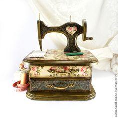 """Комодик для рукоделия """"Английские Розы"""". Handmade."""