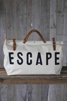 to besties - ESCAPE Canvas Utility Bag by Forestbound