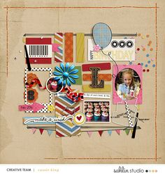 digital scrapbooking layout created by cassie king featuring Make a Wish by Sahlin Studio and Valorie Wibbens
