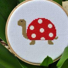 kaplumbağa desenli etamin modeli