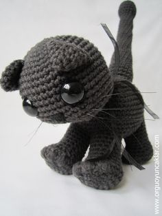 Crocheted Cotton Black Cat. $63.00, via Etsy.