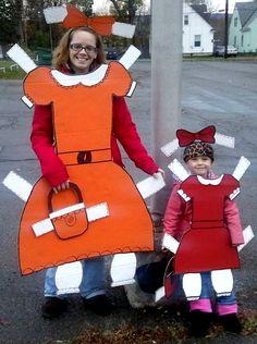 Paper doll halloween costume ideas