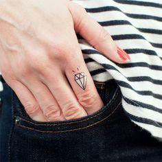 Tattly™ Designy Temporary Tattoos — Diamonds