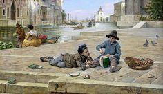 Antonio Ermolao Paoletti (1834 - 1912) Il venditore di meloni