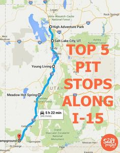 Top 5 Pit Stops Along I-15 | The Salt Project | Things to do in Utah with kids