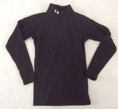 Under Armour Cold Gear Top Small Mens Black Compression Mock Neck Ski Snow FLAW #UnderArmour #ShirtsTops