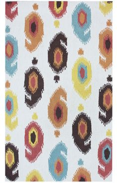 Plymouth Simplicity Ikat Ivory Rug  Item #: 200ROIC011A-P