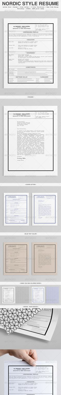 images about resume  amp  cover letter work on pinterest    nordic style mini st resume   resumes stationery