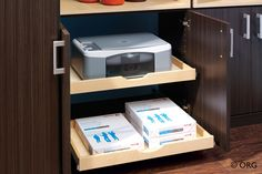 Home Office Storage & Organization | Eddie Z's Closet and Storage Systems - Chicago  -HOME OFFICE OPTION - SOOO NEAT