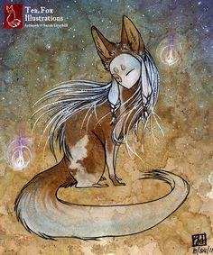 tea fox illustration - Google-søk