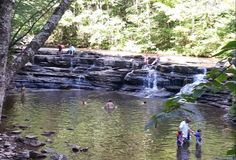 Both waterfalls are a great place to wade, swim, or just cool off and relax. Camp Creek State Park in Mercer county WV