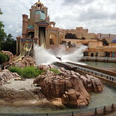Journey to Atlantis is the ride to be if you like getting wet, mild thrills, and evil mermaids!  This ride is family fun and has a great story behind it!  This is my favorite ride in all of The US!  It has three drops and even though you don't get too wet, you will when you lease expect it!  This ride is 70 feet high and goes at 35 mph!