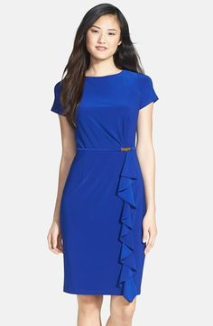 Adrianna Papell Ruffle Detail Sheath Dress available at #Nordstrom