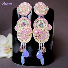 #Soutache, #Jewelry, #Earings