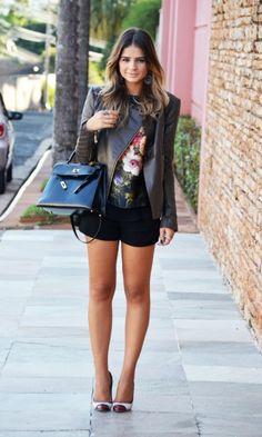 Meu look – Jaquetinha de couro! - Blog da Thássia | Moda It