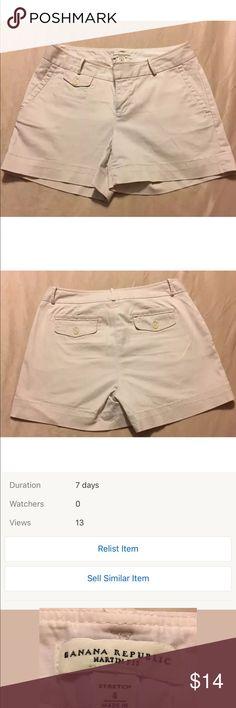 Woman's Size 4 white shorts. Banana Republic Woman's Size 4 white shorts. Banana Republic Banana Republic Shorts