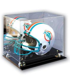 The Deluxe Football Helmet Acrylic Display Case is sized for a pro regulation helmet and a fantastic choice for displaying your collectable. This elegant ball display case feature Football Trophies, Football Helmets, Shop Interior Design, Retail Design, Sign Board Letters, Acrylic Display Case, Notebook Design, Shop Signs, Happy Fathers Day