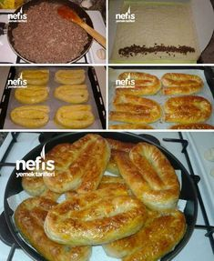 Crispy Pastry with Minced Meat (with video) – Yummy Recipes – # 3520103 - Fleisch Yummy Recipes, Most Delicious Recipe, Meat Recipes, Breakfast Items, Breakfast Recipes, Good Food, Yummy Food, Tasty, Turkish Sweets